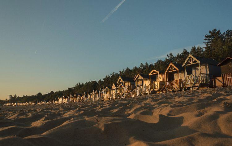 Beach Huts at Sunrise