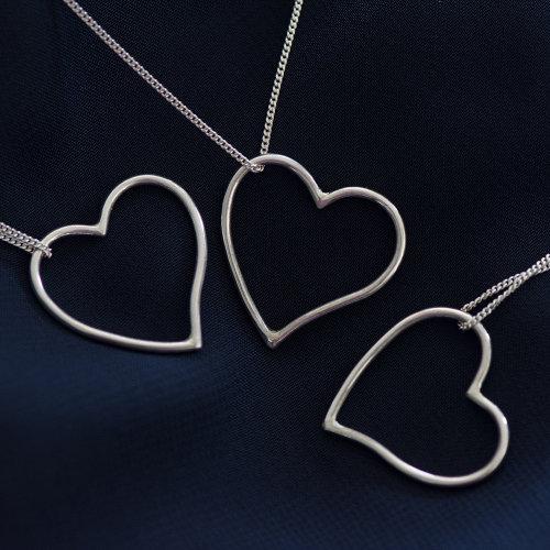 Silver Heart Pendants - Custom Order