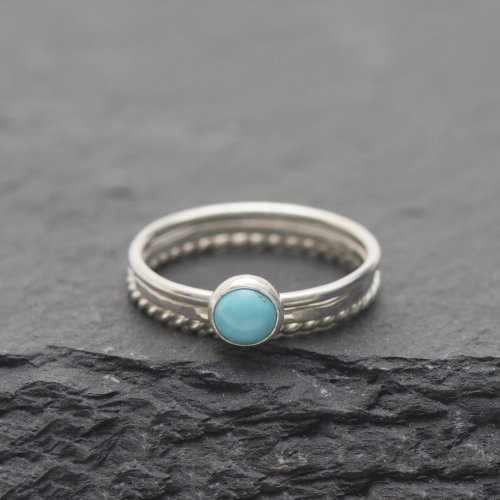 Turquoise stacking Ring Set £29