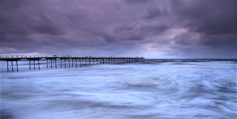 Saltburn Stormy Seas