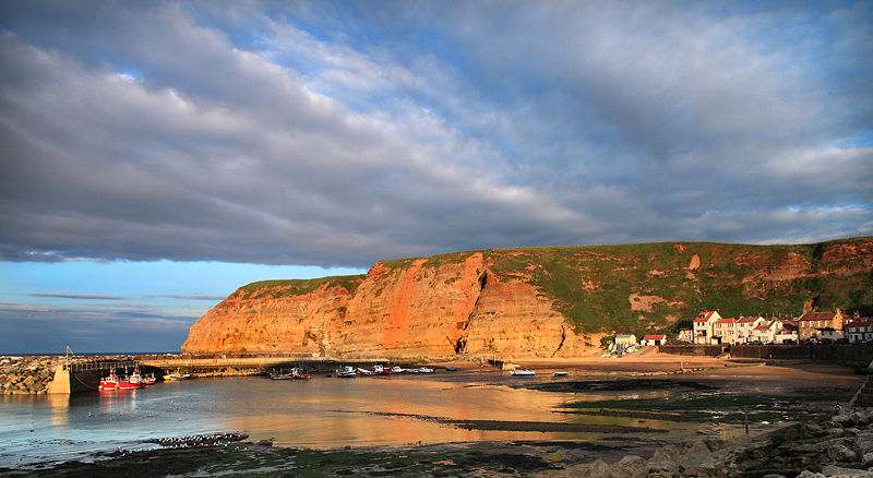 Staithes Harbour Evening