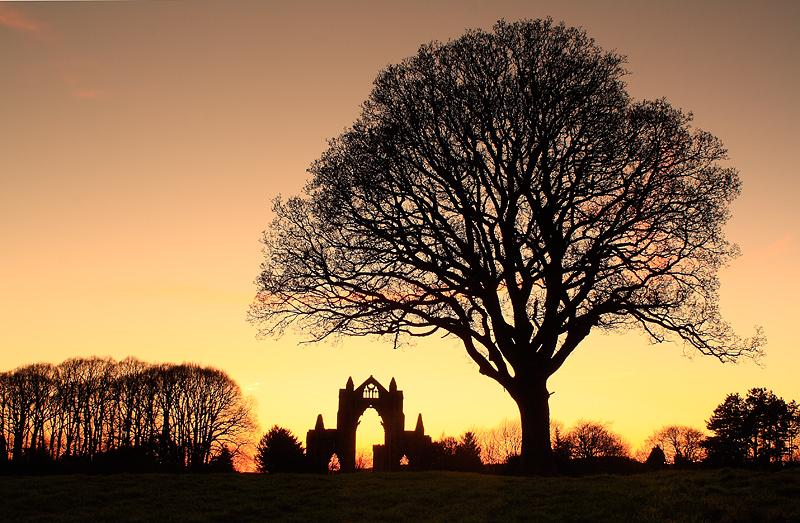 Guisborough Priory Winter Sunset