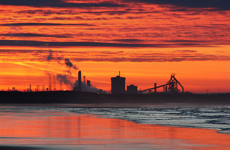 Redcar Steelworks Sunset