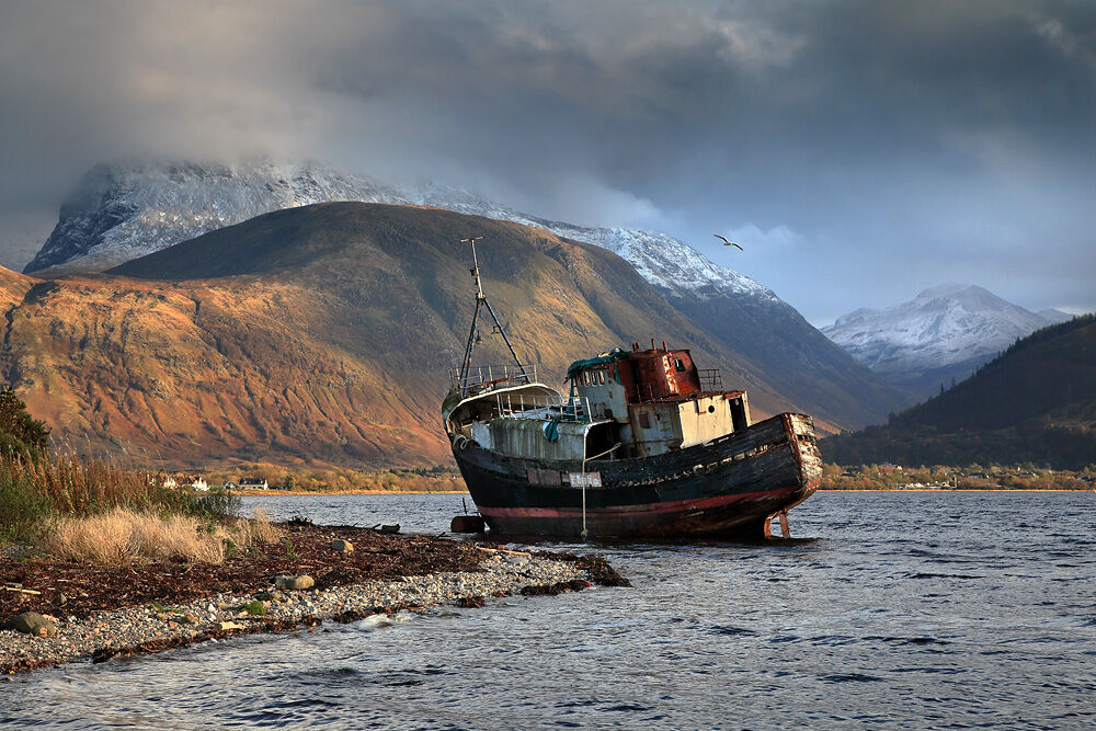 nw 560 Ben Nevis from Corpach