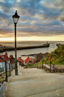 Whitby Sun Set
