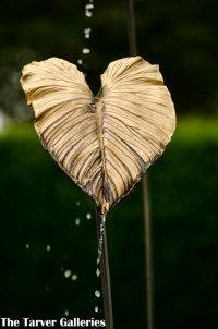 Gilded bronze leaf