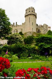 Warwick Castle from Mill Gardens