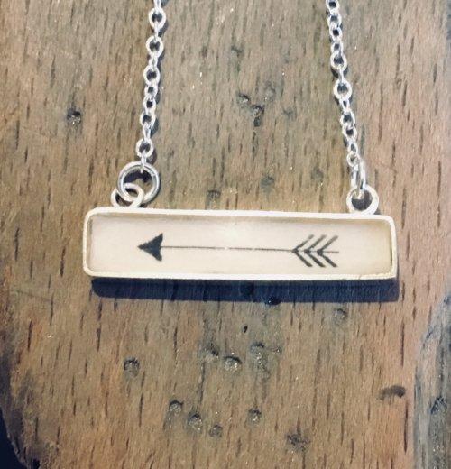 Oblong Arrow Pendant