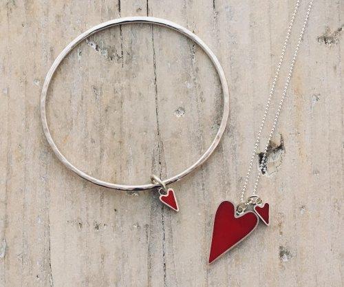 Heart - Bangle & Two Heart Pendant