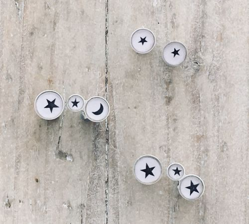 Motif - Offset and Small Star Studs
