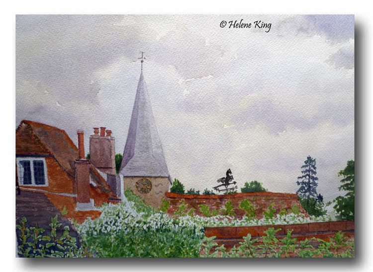 Rooftops over Burwash