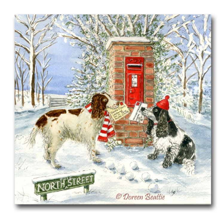 Tilly and Minnie by North Street post box
