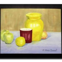 Still Life With Yellow Vase