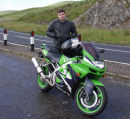 Gav @ his ZX6R, coming down off Rannoch Moor, we decided to stop for some photo's.