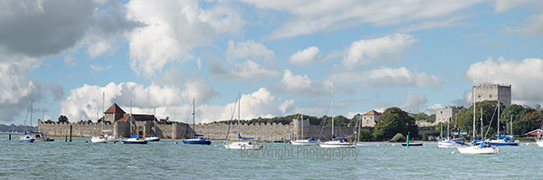 Portchester castle Panorama-web-site