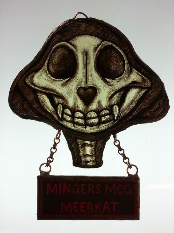 Meercat Skull Suncatcher