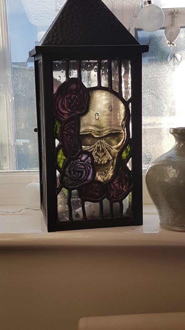 Skull and Roses Lantern