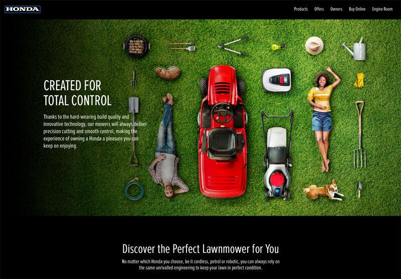 product photography, tim wallace, studio photography, honda, lawnmower