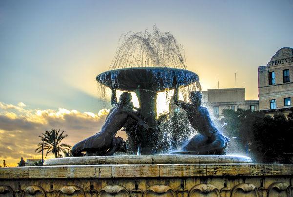 Malta Fountain in Bus Terminus