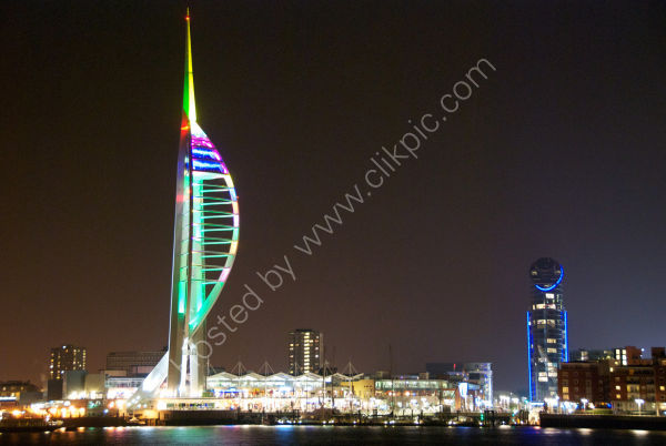 Spinnaker Tower at Christmas.