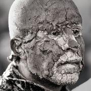 Muddy Human Statue