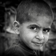 Boy with Shaved Hair