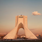 Azadi Monument at Sunset