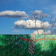 Green Wall Blue Sky