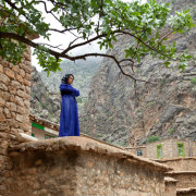 Kurd Woman on the Roof