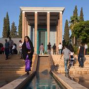 People Visiting Tomb of Saadi