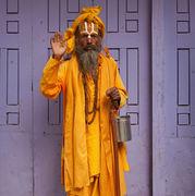 Sadhu in Yellow Dress