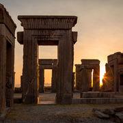 Sunset at Palace of Darius