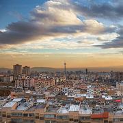 Sunset at Tehran Skyline