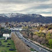 Tehran Skyline from Tabiat Bridge