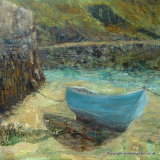 Boat In Harbour by Anita Langham