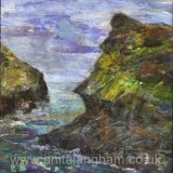 Harbour, Boscastle, Winter by Anita Langham