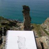 Lanterdan Quarry Sketch by Anita Langham