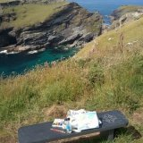 Sketching near Tintagel Castle