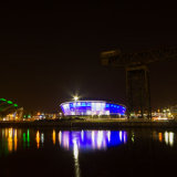 Glasgow-Clydeside-@-night