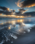 Black sand reflections