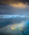 Blue light on Jokulsarlon
