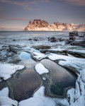 Rock pools and snow