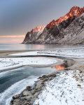 Frosty shore
