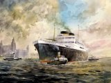 Britannic leaving a murky Liverpool