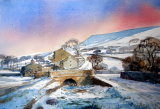 Downham in the  snow SOLD
