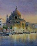 Santa Maria, Evening (Watercolour) 15inx12in
