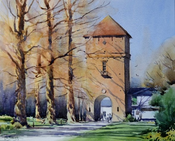 Spring at Poleseden Lacey (Watercolour) 11.5x13.5in