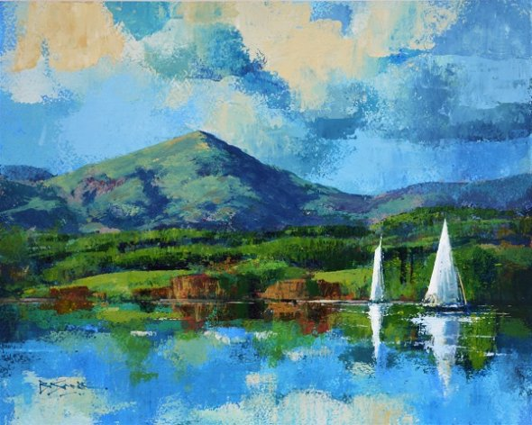 Reflections Lake Windermere No.1 (Acrylic) 13x15in