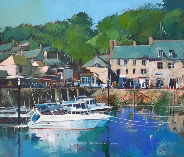 Sunny Morning, Padstow (Acrylic) 13x15in