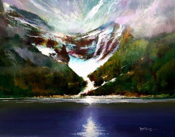 The Victoria Glacier (Acrylic) 16x18in
